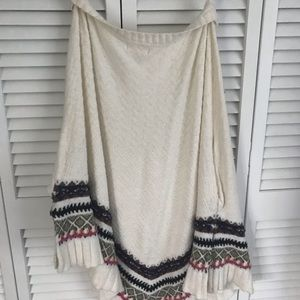 Anthropologie Sleeping In Snow Poncho M/L